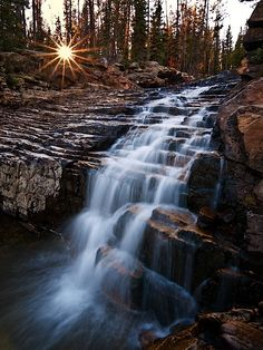 I got lucky with this sunburst while I was shooting the Provo River Falls