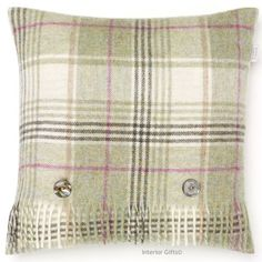 Practical 100% Pure Lambswool Bronte Sofa Throw Blanket Rug Prince Of Wales Check Lilac Home & Garden Home Décor
