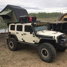 Camping and Jeep