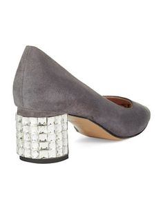 Shoes | Round Toe | Danika Rhinestone Heels | Lord and Taylor