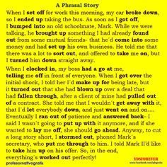 Different Phrasal Verb Study Method - A Phrasal Story
