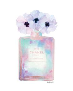 Perfume Watercolor bottle with poppies Mint Pink Lilac Cute Wallpapers, Wallpaper Backgrounds, Iphone Wallpaper, Chanel Background, Parfum Chanel, Poster Making, Cute Art, Watercolor Art, Perfume Bottles
