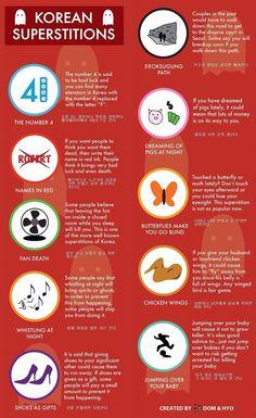 당신들이 몰랐던 한국의 미신 10가지(10 Korean superstitions you may not know about)