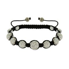 Sparkling Diamond Austrian Crystal Shamballa Style Bracelet