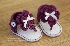 Crochet baby sandals gladiator sandals baby by editaedituke