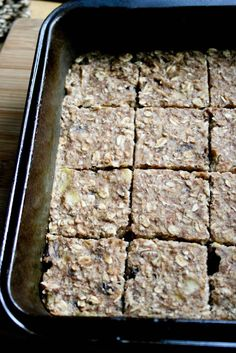 Healthy Banana Oat Squares - Food & Whine