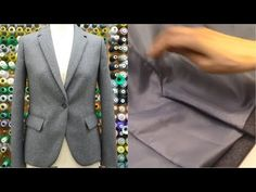 """(8) How to sew a jacket PART6 tutorial """"Facing, Back vent, Blind stitch main and lining"""" - YouTube"""