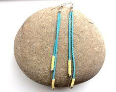Hoop earrings African earrings Large earrings by Akweleydesign Sterling Silver Dangle Earrings, Chain Earrings, Beaded Earrings, Earrings Handmade, Beaded Jewelry, African Earrings, African Beads, African Jewelry, Orange Earrings