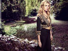Maryna Linchuk for Monsoon, 2011 Fall Winter, Autumn, Monsoon, Pretty People, Supermodels, Kimono Top, Bohemian, Photoshoot, Lady