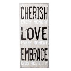 Cherish Wall Art 27 x 60cm