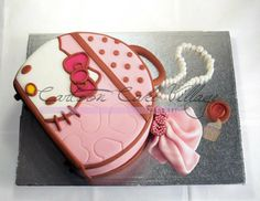 Hello Kitty Bag - by CartoonCakeVillage @ CakesDecor.com - cake decorating website