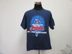 CSA Cleveland Indians Short Sleeve t Shirt sz L Large MLB AL 2007 Division Champ #CSA #ClevelandIndians #tcpkickz