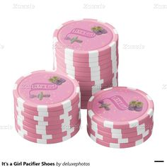It's a Girl Pacifier Shoes Poker Chips