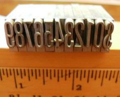 vintage letterpress  PRINTERS TYPEFACE NUMERIC 0 to 9 by Inktiques, $18.00