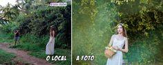 """[DICA] Como escolher o lugar perfeito para as fotos externas.  O ensaio externo é uma ótima forma de tirar fotos interessantes com cenários de tirar o fôlego. Pra quem deseja criar um álbum incrível a escolha da paisagem nem sempre precisa ser no lugar mais """"bonito"""". Para te ajudar a conquistar o book dos seus sonhos vamos dar dicas de como escolher o lugar para as fotos externas!   1. O horário Fazer fotos externas depende muito da iluminação do ambiente. Por isso é importante escolher o…"""