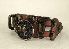 309 Steampunk Sundial Mad Max Burning Man Assemblage industriel Bracelet