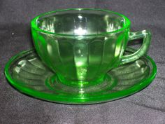Federal Green Depression Glass Hostess Cup and by GarageSaleGlass, $14.99