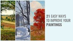 """Become A Better Painter With The """"21 EASY WAYS TO IMPROVE YOUR PAINTINGS"""" Ebook. Fast track your learning with these highly effective tips. Watercolor Paintings, Simple Oil Painting, Oil Painting Tips, Oil Painting Techniques, Acrylic Painting Techniques, Painting Videos, Your Paintings, Landscape Paintings, Painting Clouds"""
