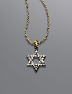 14k yellow white gold diamond star of david pendant 12 carat cable collectibles star of david necklace women necklaces chains david yurman official store aloadofball Images
