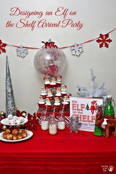 This is a very easy (and fun!) party plan for a Christmas Elf on the Shelf arrival party.