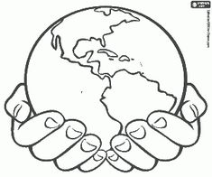 The Earth, our planet coloring pages printable games Planet Coloring Pages, Fruit Coloring Pages, Colouring Pages, Coloring Sheets, Us Map Printable, Free Printable Coloring Pages, Art Globe, Logo D'art, Bible Verse Coloring Page
