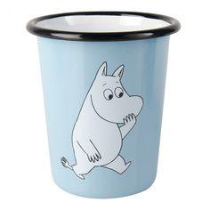 Moomin Enamel Cup Moomintroll L Muurla Joker, Tove Jansson, Porcelain Ceramics, Ceramics Tile, Painted Porcelain, China Dinnerware, Keep It Cleaner, Tumbler, Home Decor Accessories