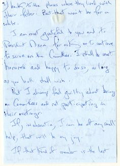 Letter from Jackie, to the Nixons. Page 2