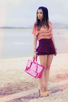 Blog da Lê-Moda Acessível: Rosê com Bordo