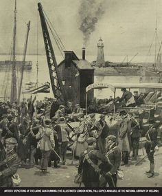 Gun-Running – UCD Decade of Centenaries Old Pictures, Folklore, Dublin, Ireland, Irish, Guns, Running, History, Places