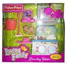 Fisher Price Loving Family Dollhouse Furniture Set Laundry Room