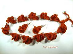 (1) crochet necklace & earrings - YouTube
