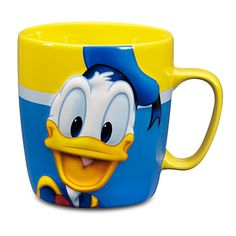You can trust Donald to brighten up your morning coffee! DONALD DUCK 'BRIGHTS' COFFEE MUG (2014) #Disney