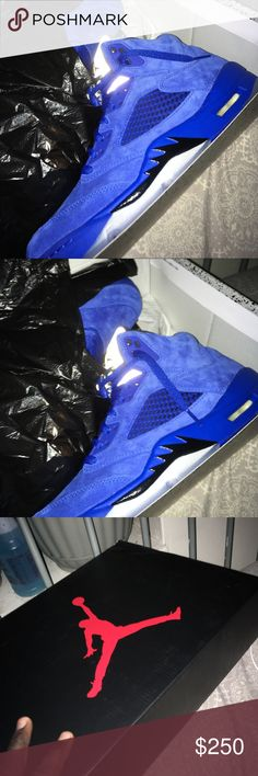 Jordan royal blue retro 5s Brand new😍 Jordan Shoes Athletic Shoes