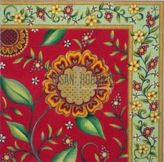 Red Sunflowerr Artist: Janice Gaynor through Susan Roberts Designs Item Number: JG1014 Mesh Size: N/A Measurement: 14 x 14