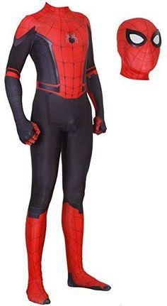 New Spiderman Suit, Spiderman Dress, Spiderman Halloween Costume, Hero Spiderman, Black Spiderman, Spiderman Cosplay, Halloween Costumes For Kids, Costume Spider-man, Boy Costumes
