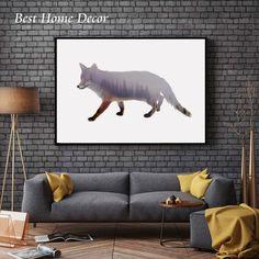 Fox Poster arte decoração floresta Art adorável Animal Decal tapeçaria Nursery presente da arte impressão AP045 em Pintura & Caligrafia de Home & Garden no AliExpress.com | Alibaba Group