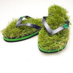 Kusa flip-flops for those who like walking barefoot in the park...