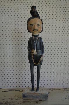 Edgar Allan Poe Folk Art