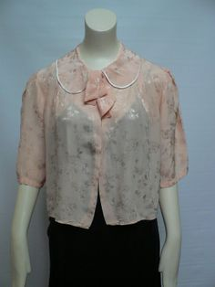 1930s soft pink silk satin jacket /1940s bedjacket / vintage 30s bolero/ 1930s bedjacket