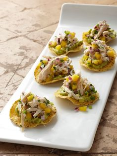 Mini Chicken and Mango Tostadas recipe from Food Network Kitchen via Food Network