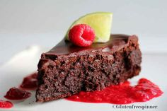 Dessert: Flourless Chocolate Cake With Raspberry Lime Salsa   9 Super Romantic Dinners For Two