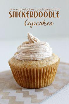 Snickerdoodle Cupcakes 4 by lovebakesgoodcakes, via Flickr