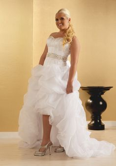 Best Esmerelda Sexy Plus Size High Low Wedding dress