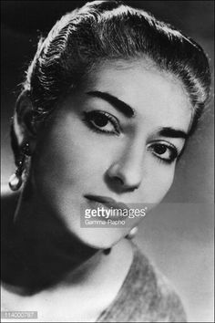 Maria Callas In France On January 01, 1987.