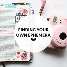 APRIL CROSIER | finding your own ephemera