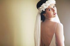 Constance halo & English net veil