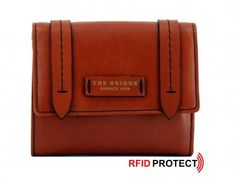 Klappbörse The Bridge Geldbörse Leder Überschlag Orange RFID The Bridge, Rind, Orange, Card Case, Satchel, Wallet, Cards, Handbags, Women's