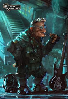 male dwarf rocker; shadowrun