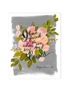 Song of Solomon art print 11 x 14 Hand Painted floral by The First Snow Wedding Posters, Wedding Prints, 4 Wallpaper, Large Art Prints, Blogging, Solomon, Wedding Signs, Cool Words, Just In Case