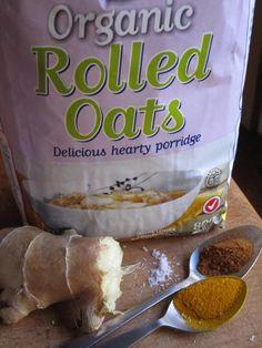 ayuverdic porridge anyone?nomnom turmeric, cinammon, ginger and cream with oats for a heavenly breakfast. Rolled Oats, Natural Medicine, Ayurveda, Turmeric, Heavenly, Kai, Nom Nom, Detox, Snack Recipes
